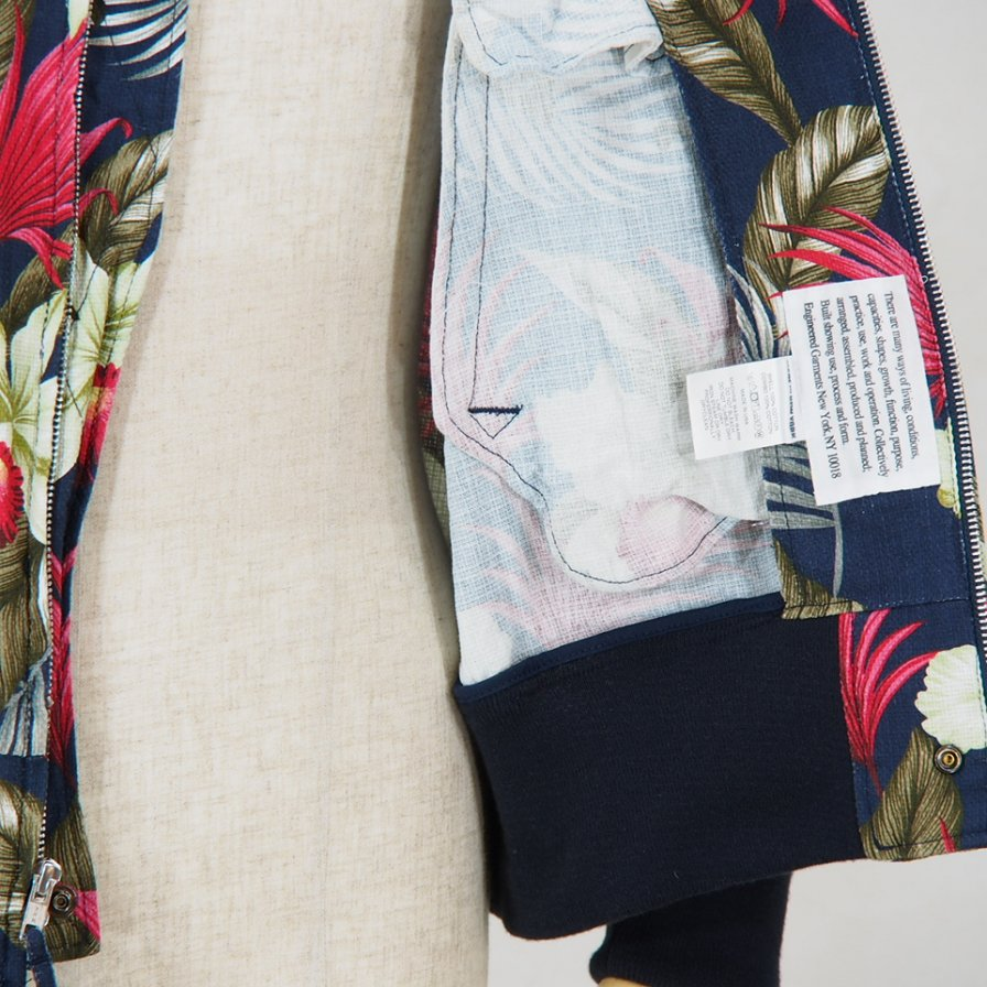Engineered Garments - Aviator Jacket - Hawaiian Floral Java Cloth - Navy