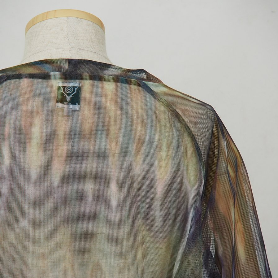 South2 West8 - Bush Shirt - Mesh Print -  Tie Dye