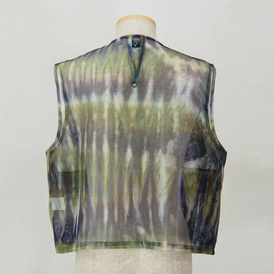 South2 West8 - Mesh Bush Shirt - Poly Mesh -  Tie Dye