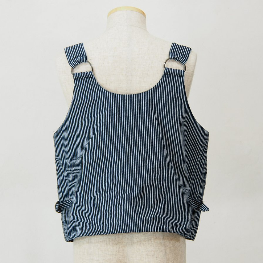 AiE - DSD Vest - Railroad St - Iidigo / White - Wide