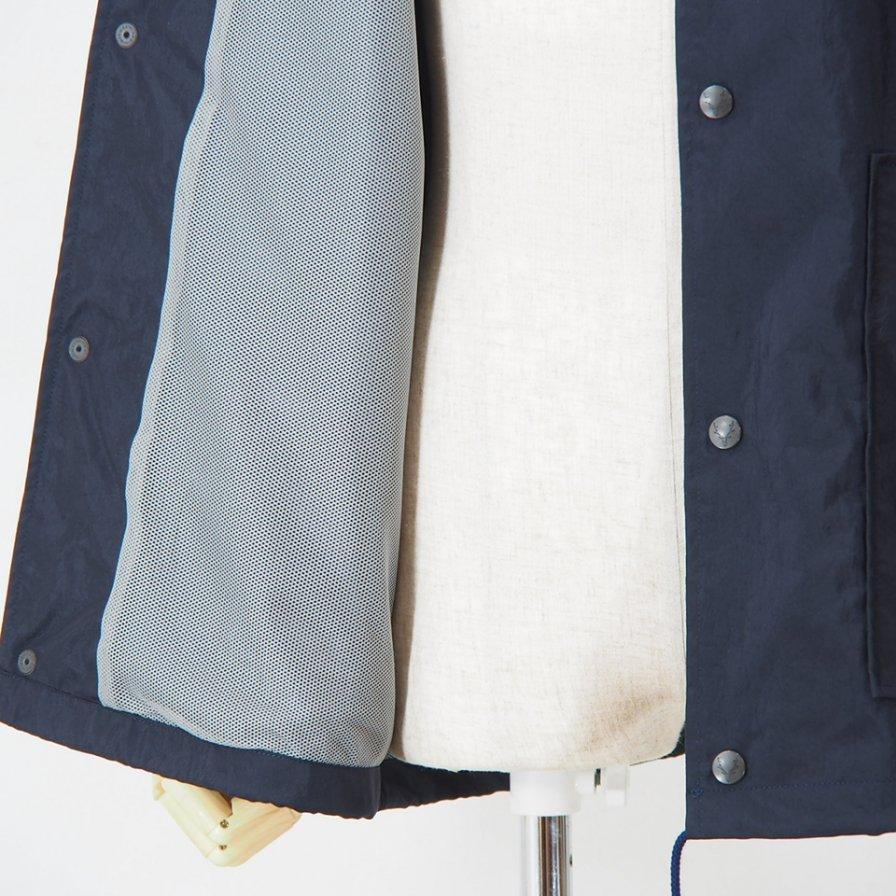 South2 West8 - Coach Jacket - Nylon Oxford / Acrylic - Navy