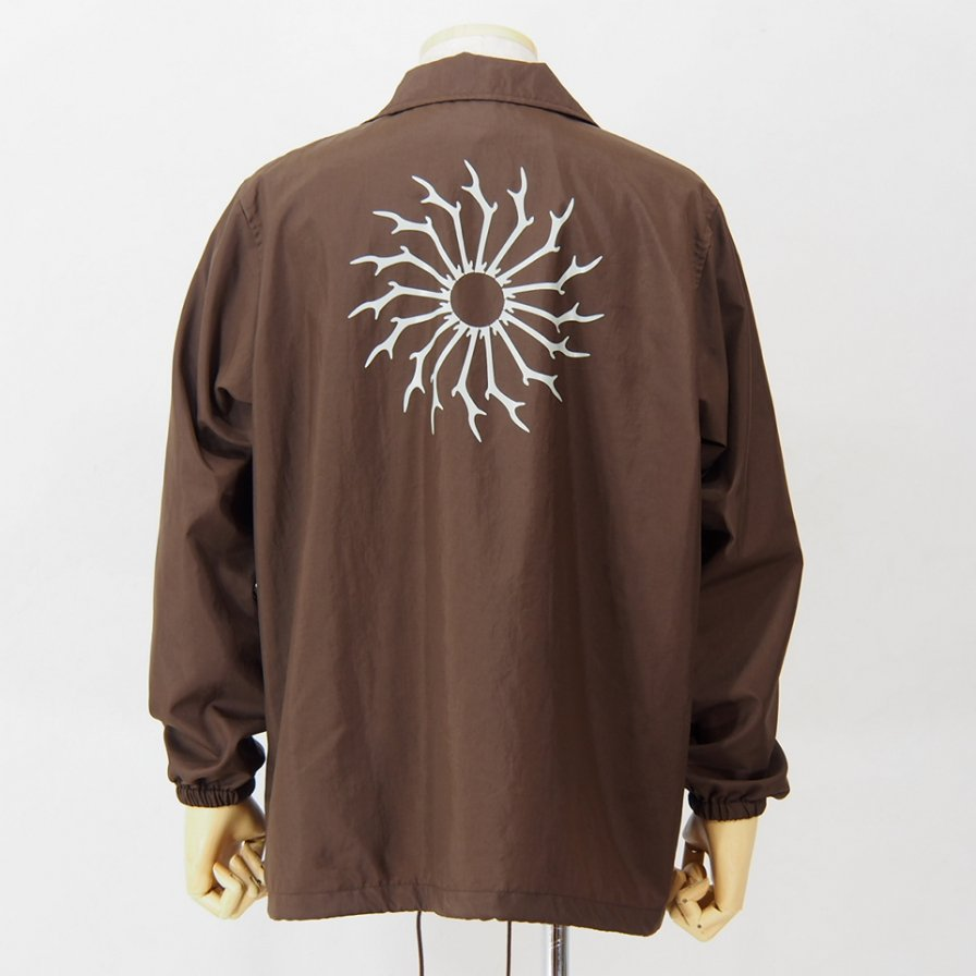 South2 West8 - Coach Jacket - Nylon Oxford / Acrylic - Brown