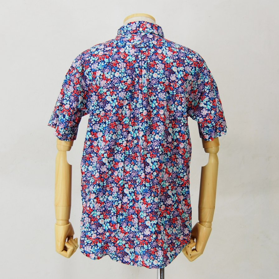 Engineered Garments - Popover BD Shirt - Floral Lawn - Navy / Red / Lt.Blue
