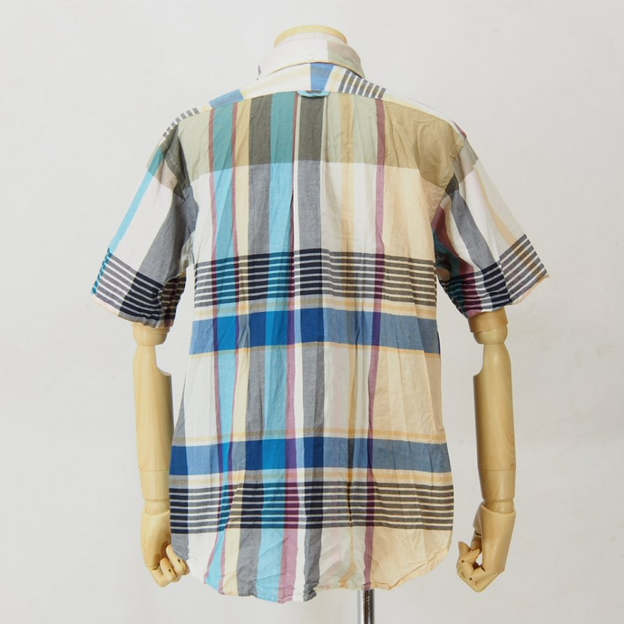 Engineered Garments - Popover BD Shirt - Big Madras Plaid - Khaki