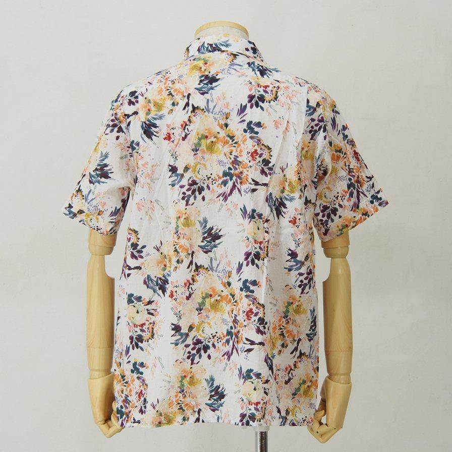 Engineered Garments - Camp Shirt - Botany Printed Lawn - White