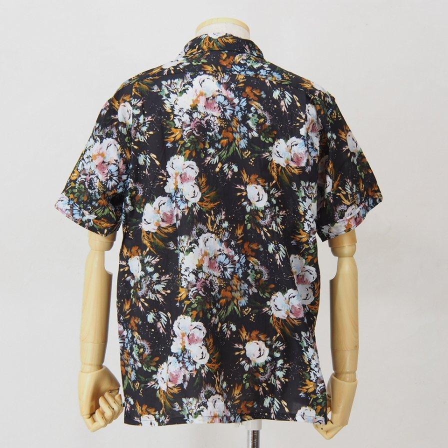 Engineered Garments - Camp Shirt - Botany Printed Lawn - Dk.Navy