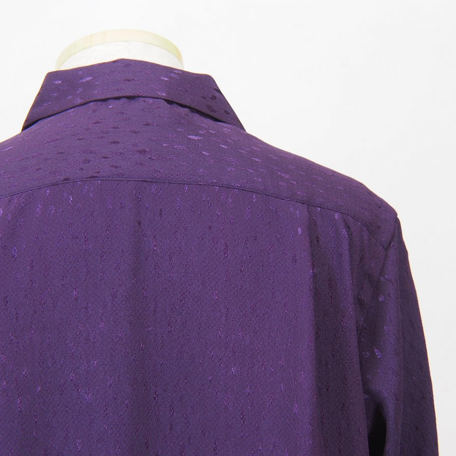 South2 West8 - One Up Shirt - Poly Jacquard / Mottled - Purple