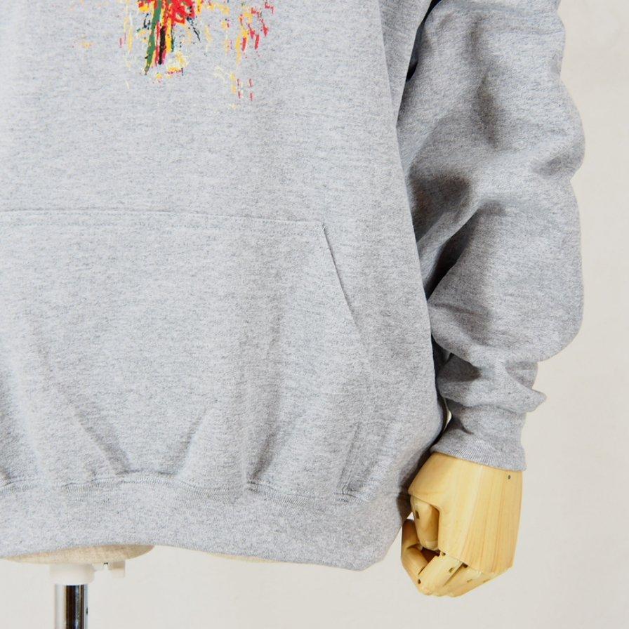 AiE - Printed Hoody - Flower - Grey
