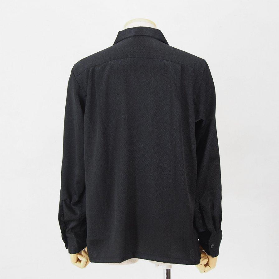South2 West8 - 6 Pocket Classic Shirt - Poly Jacquard / Fine - Black
