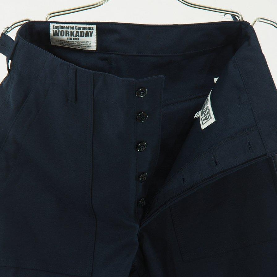 EG WORKADAY - Fatigue Pant - Cotton Reversed Sateen - Dk.Navy
