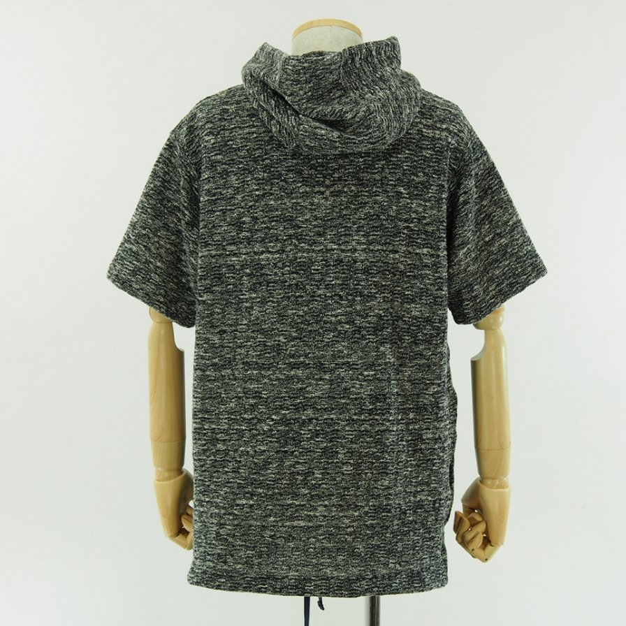 Engineered Garments - Short Sleeve Hoody - Heather Sweater Knit - Navy