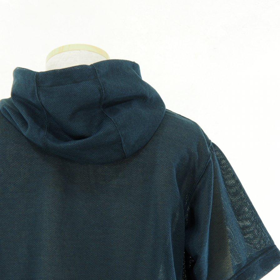 Engineered Garments - Short Sleeve Hoody - Knit Mesh - Navy