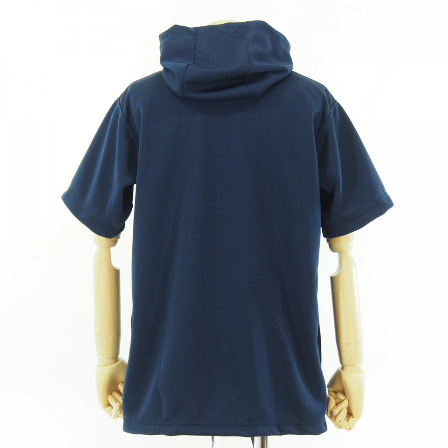 Engineered Garments - Short Sleeve Hoody - Baseball Doubleknit - Navy
