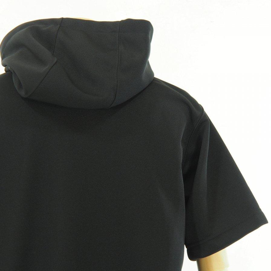 Engineered Garments - Short Sleeve Hoody - Baseball Doubleknit - Black