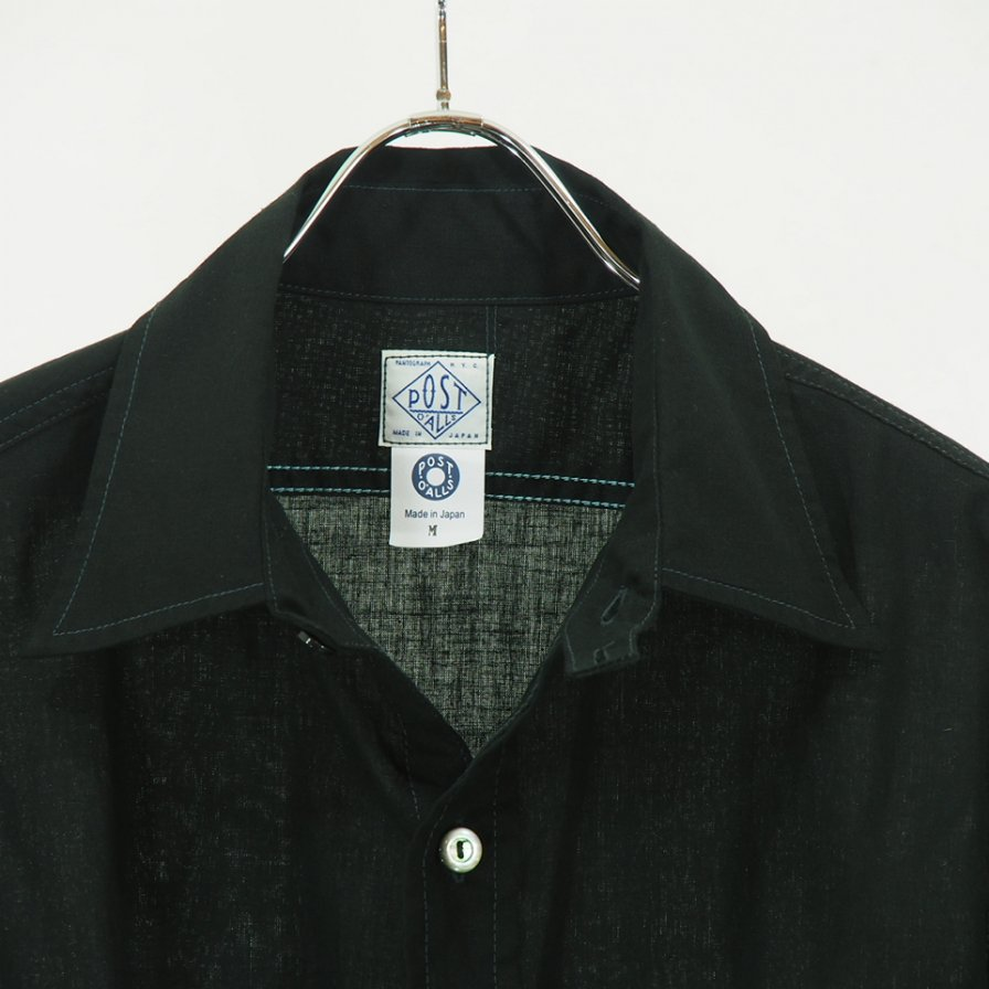POST OVERALLS - The POST� R -  L/S Shirt - Cotton Broadcloth - Black