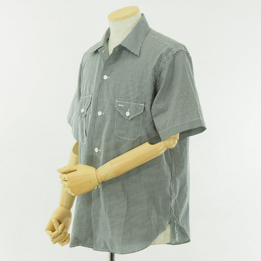 POST OVERALLS - E Z Cruz Shirt S/S - Gingham Shirting - Black