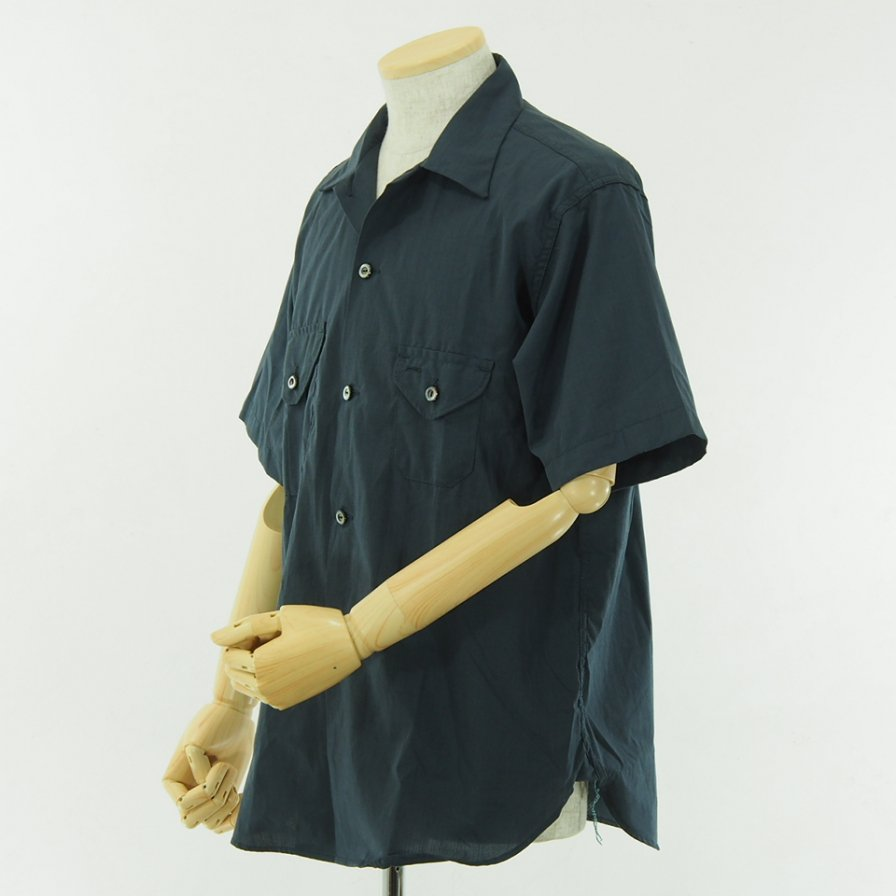POST OVERALLS - E Z Cruz Shirt S/S - End On End - Navy Grey