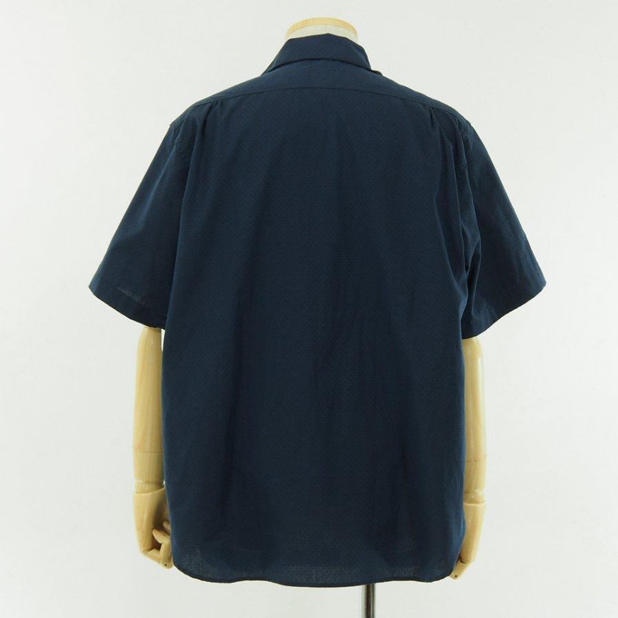 POST OVERALLS - E Z Cruz Shirt S/S - Dobby Chambray - Navy