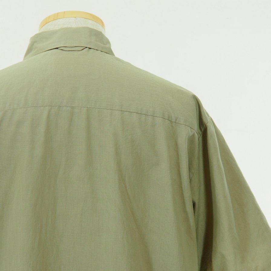 STILL BY HAND - Cotton Short Sleeve Shirt - Beige