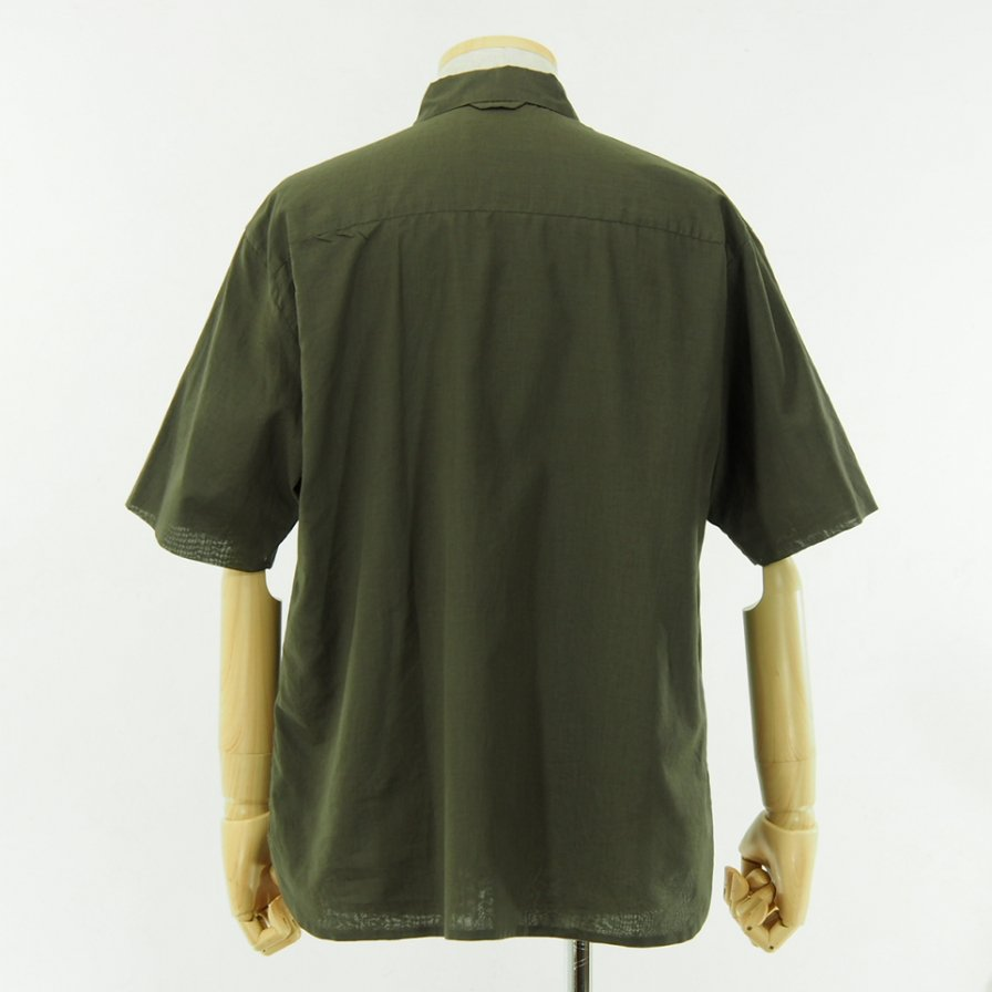 STILL BY HAND - Cotton Short Sleeve Shirt - Brown