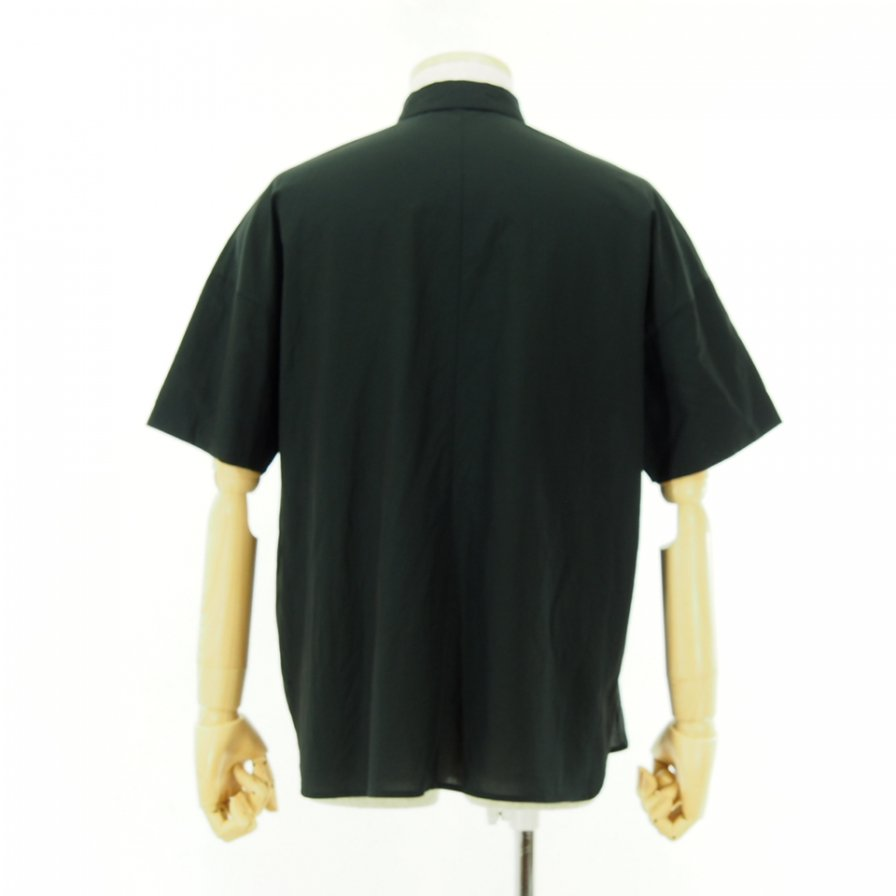 STILL BY HAND - Drop Shoulder S/S Shirt - Black