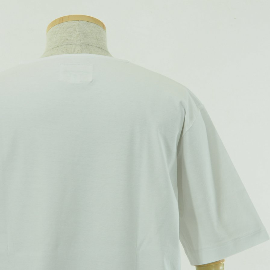 STILL BY HAND - Long Pocket S/S Tee - White