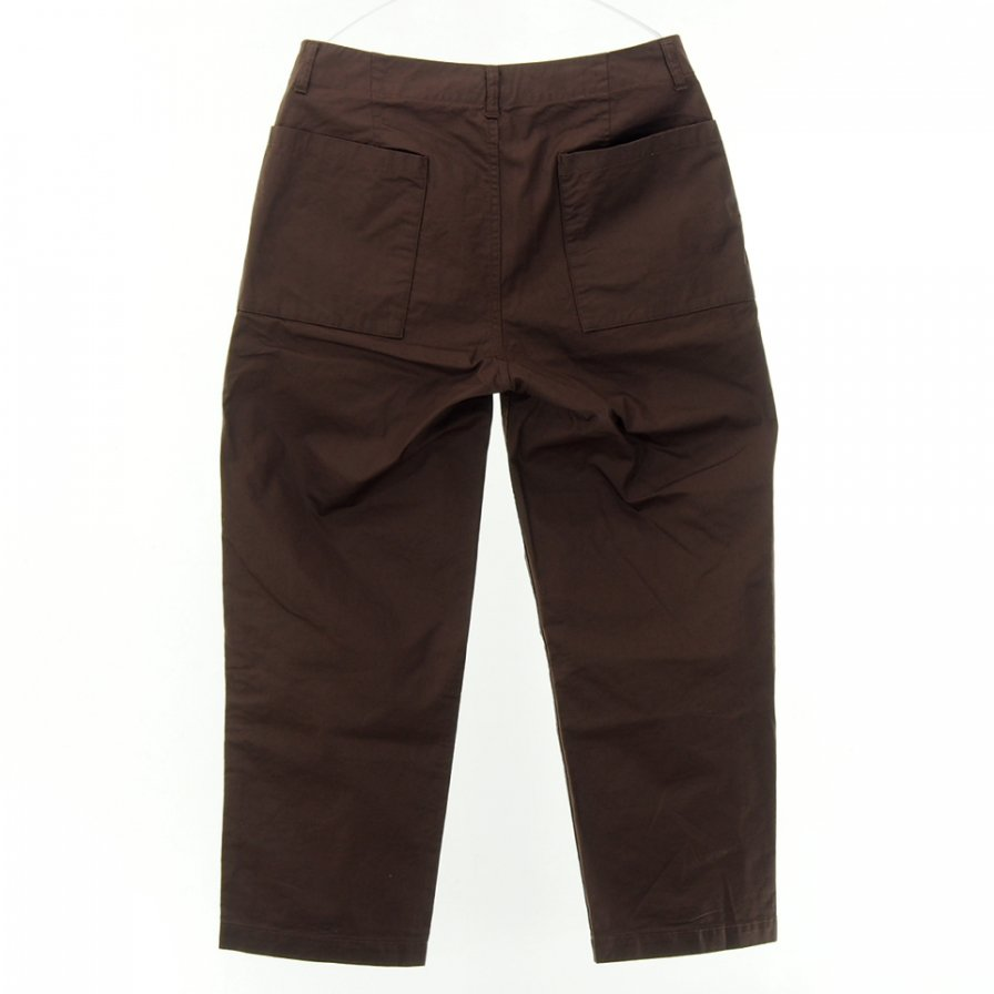 STILL BY HAND - Wide Tapered Pant - Brown