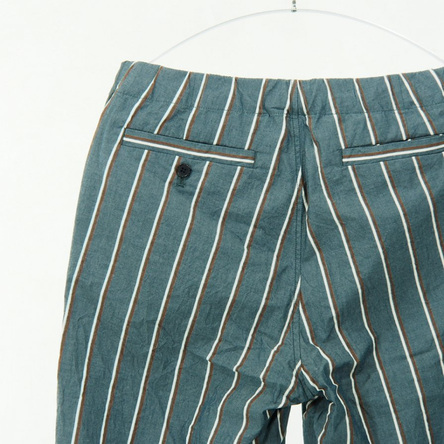 STILL BY HAND - Pajama Pant - Grey Stripe