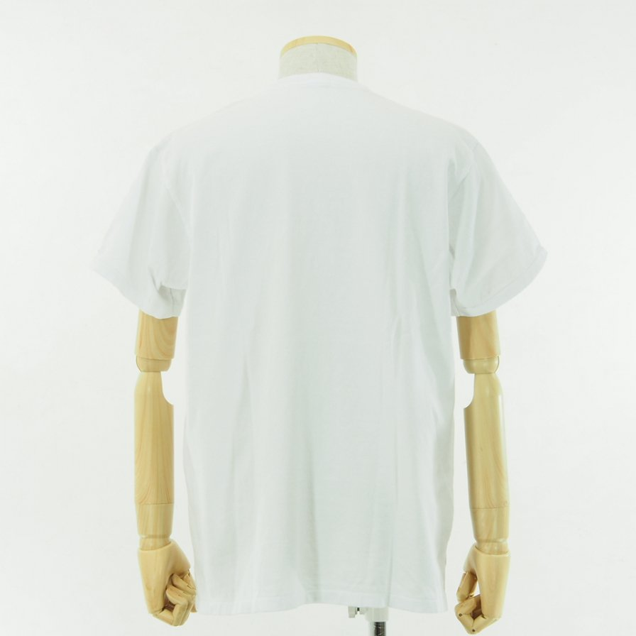 Engineered Garments - Printed Cross Crew Neck T shirt - LIC - White