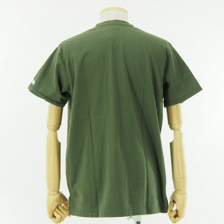 Engineered Garments - Printed Cross Crew Neck T shirt - Long Island City - Olive