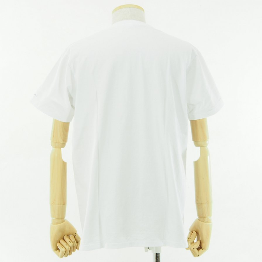 Engineered Garments - Printed Cross Crew Neck T shirt - 11101 - White