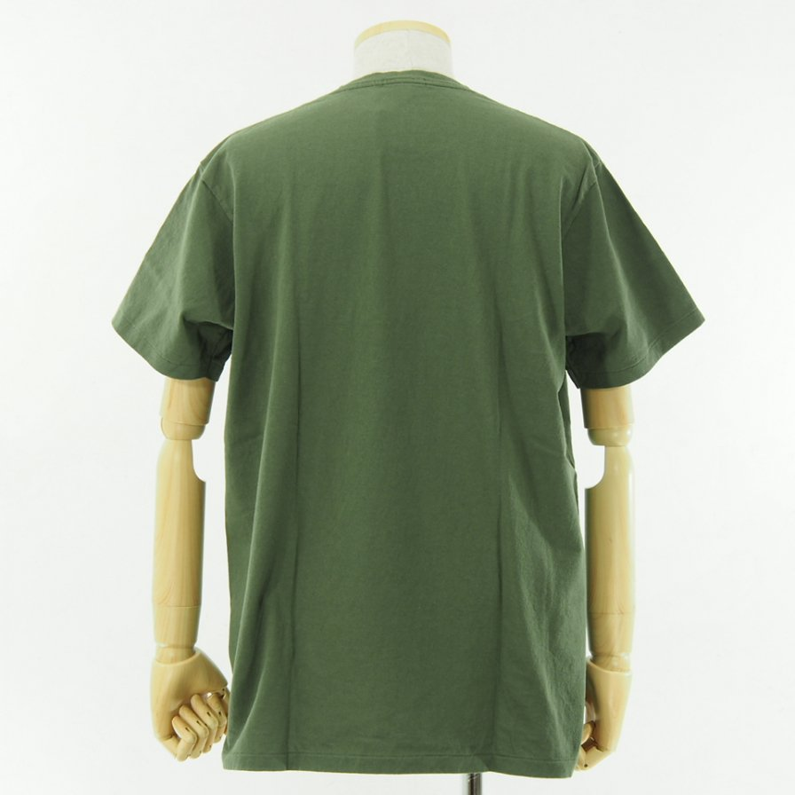 Engineered Garments - Printed Cross Crew Neck T shirt - 11101 - Olive