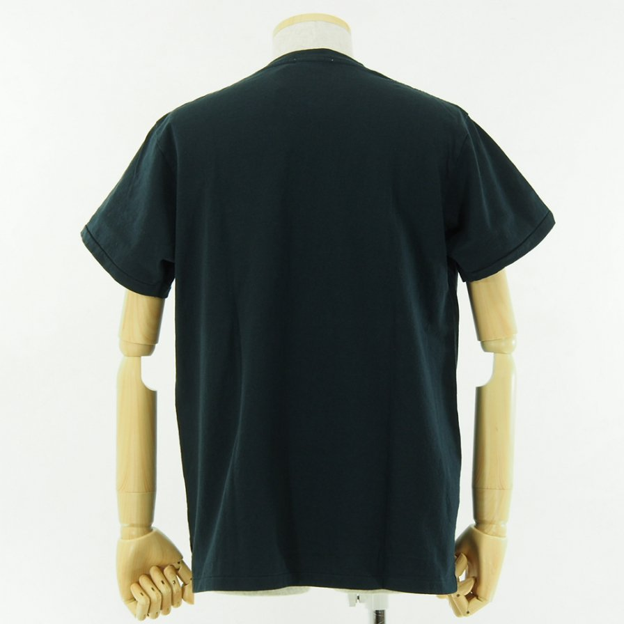 Engineered Garments - Printed Cross Crew Neck T shirt - 11101 - Dk.Navy