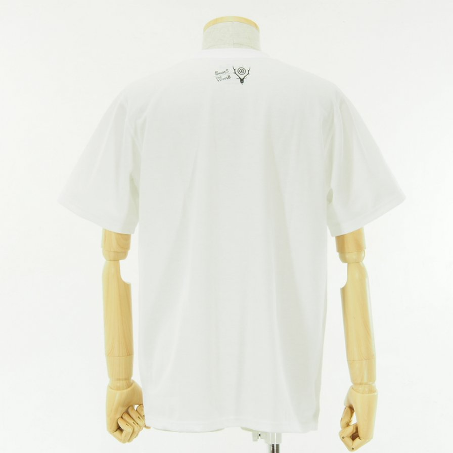 South2 West8 - S/S Crew Neck Tee - Poly/C Jersey - WALK ON - White