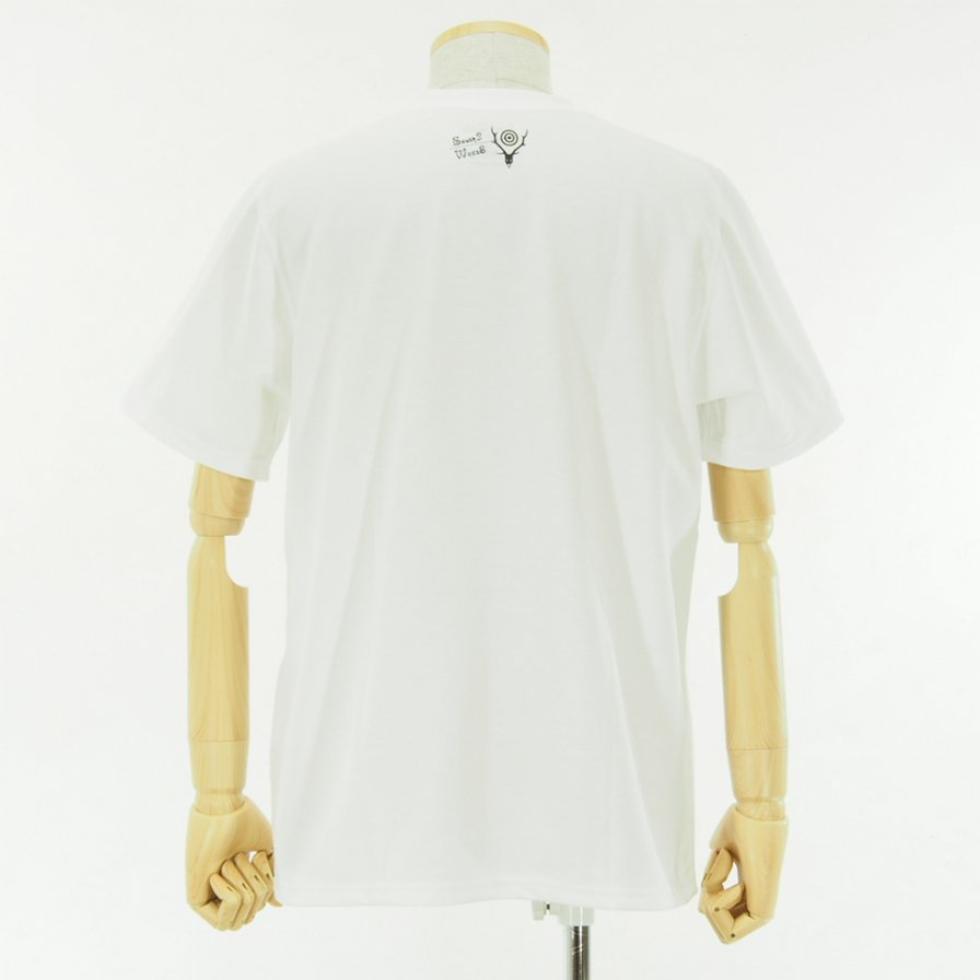 South2 West8 - S/S Crew Neck Tee - Poly/C Jersey - TIME TO MOVE ON - White