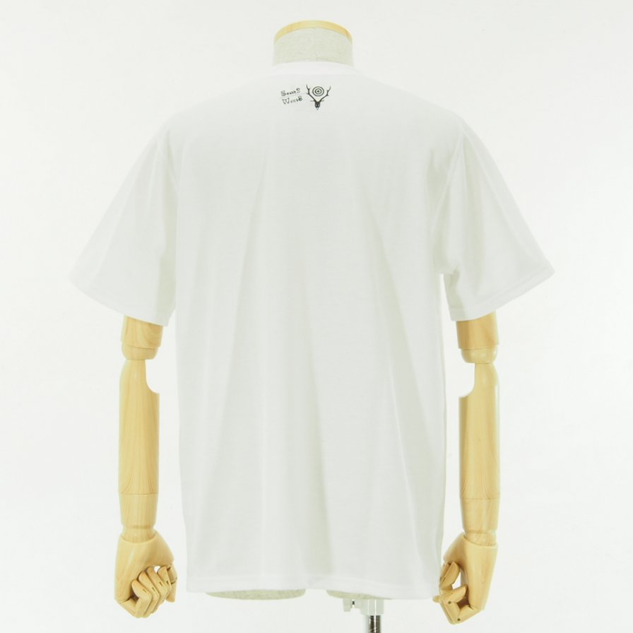 South2 West8 - S/S Crew Neck Tee - Poly/C Jersey - I WILL GET BY - White