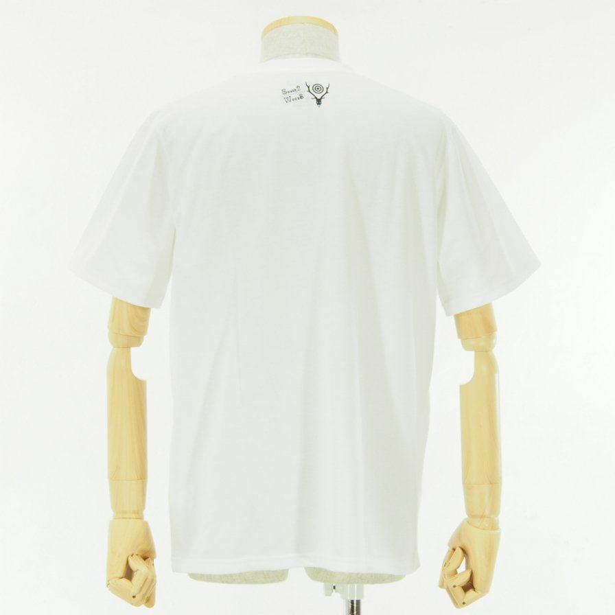 South2 West8 - S/S Crew Neck Tee - Poly/C Jersey - GOING GOING GOING - White