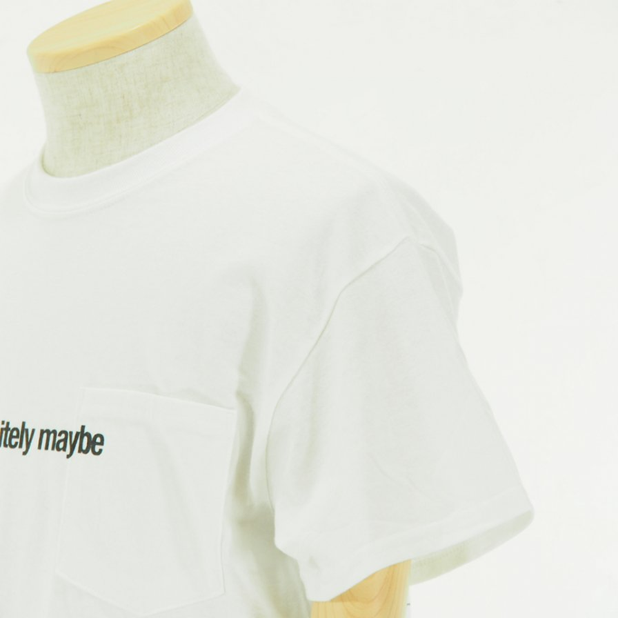 AiE - Printed S/S Pocket Tee - Face - White