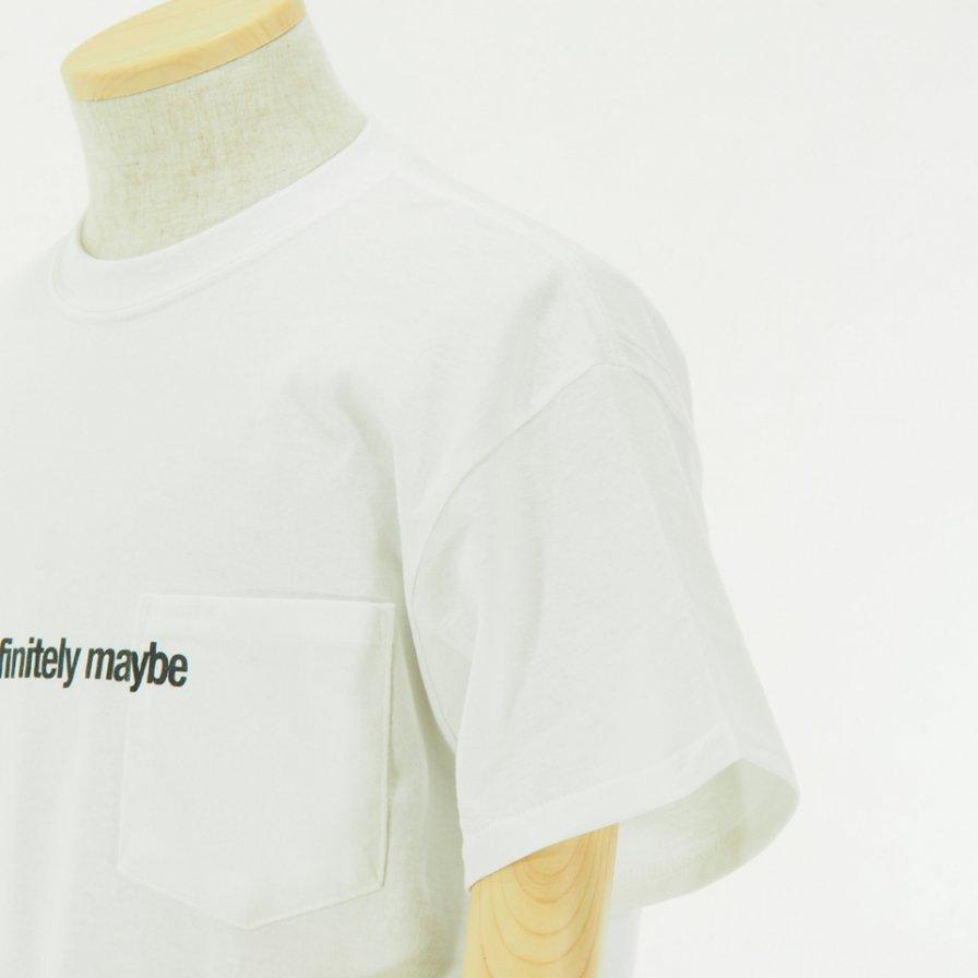 AiE エーアイイー - Printed S/S Pocket Tee - Flag - White