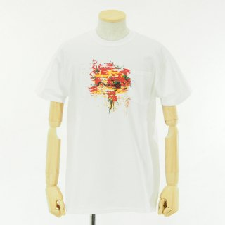AiE - Printed S/S Pocket Tee - Flower - White