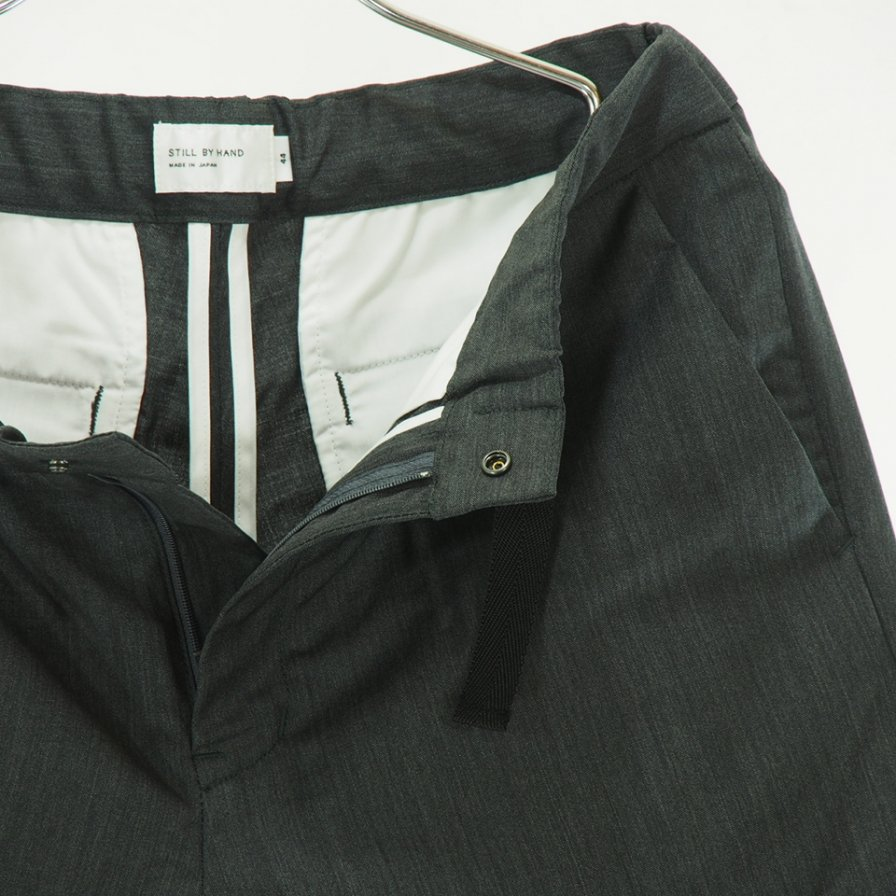STILL BY HAND - Summer Wool Short Pant - Grey