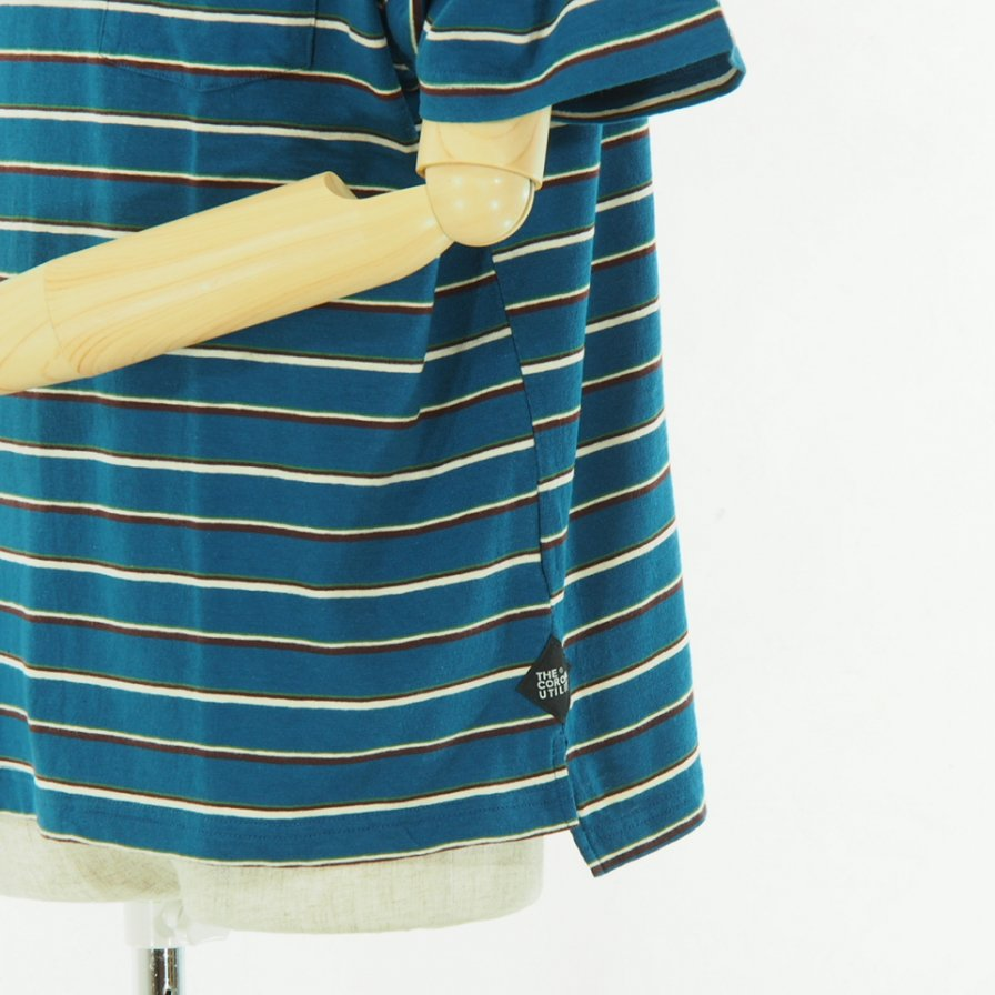 CORONA - Stripe Pocket Tee 019 - Blue
