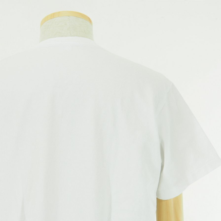 EG WORKADAY - Crossover Neck Pocket Tee - White