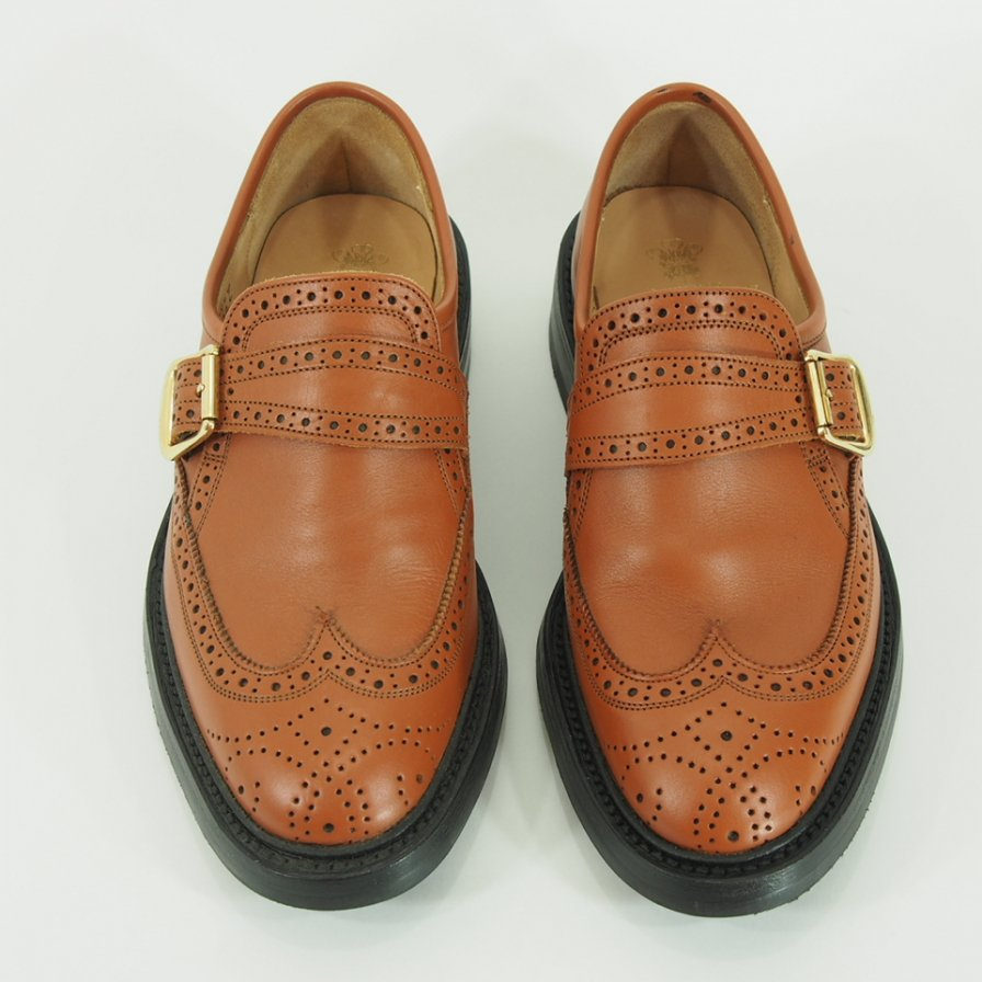 Tricker's - Monk Strap Shoes - Dark Orange