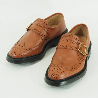 Tricker's - Monk Strap Shoes - Dark Orange
