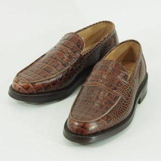 Tricker's - Penny Loafer - Brown Croco Type
