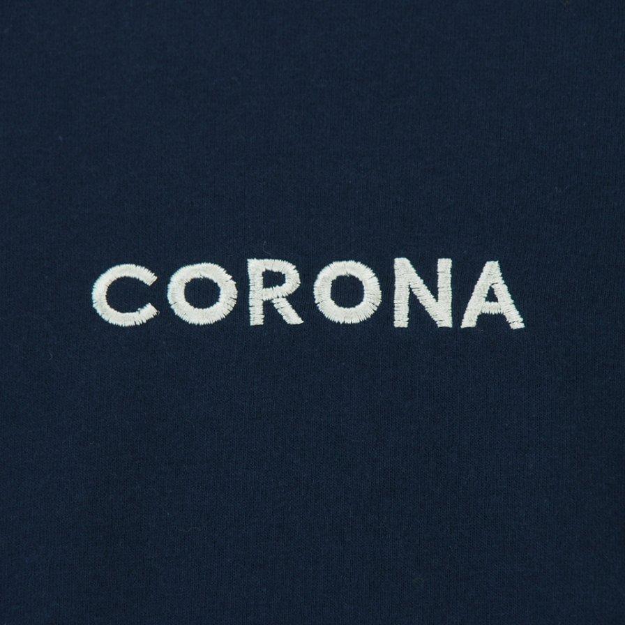 CORONA - Embroidery CORONA Tee - Navy