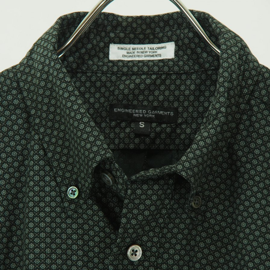 Engineered Garments - 19th BD Shirt - Mini Foulard - Black
