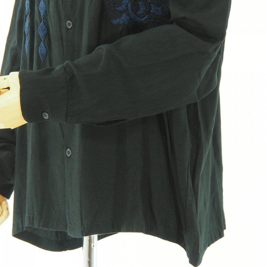 NOMA t.d. - Flower Emb Shirt - Black