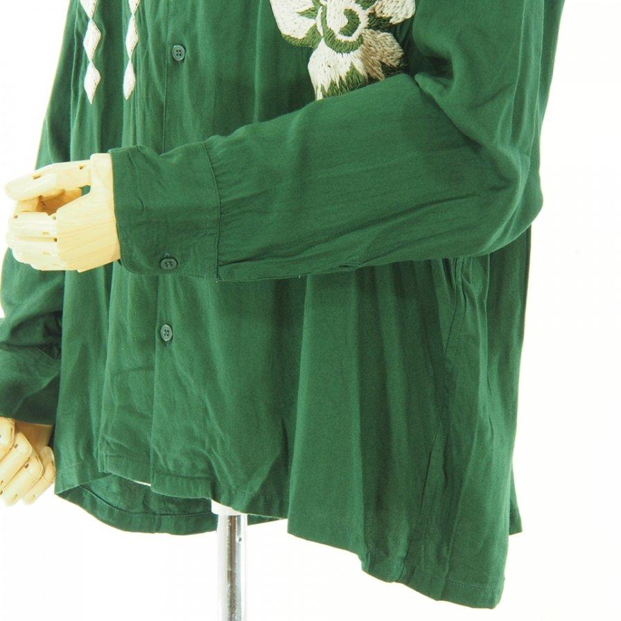 NOMA t.d. - Flower Emb Shirt - Green